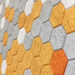 Form Us With Love: Hexagonal Wood Wool Cement Board Tiles